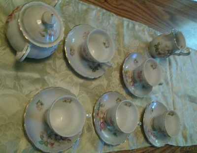 Arnartcreation Japan 5pc Floral Tea set Glassware