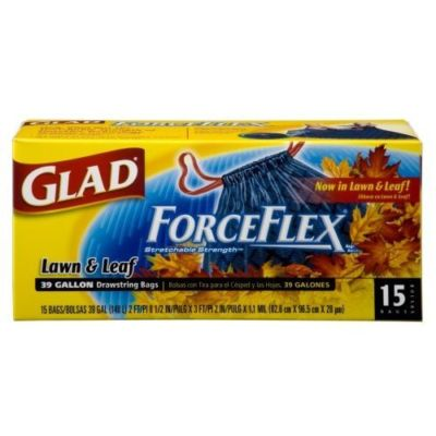 (Pack of 6) Glad Forceflex Lawn Drawstring Trash B