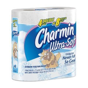 10pk Charmin Ultra Soft, Double Rolls, 4 Count Pac