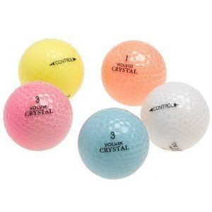 Crystal Mixed Colors Recycled Golf Balls, 48 Packw