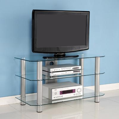 "Walker Edison 42"" Glass TV Stand"