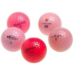 Optic Pink Mixed Recycled Golf Balls, 48 pack with