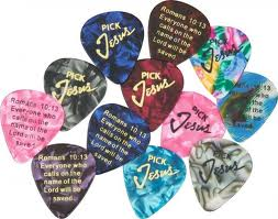 Pick Jesus Guitar picks - 12 Pack - Bible Verse -