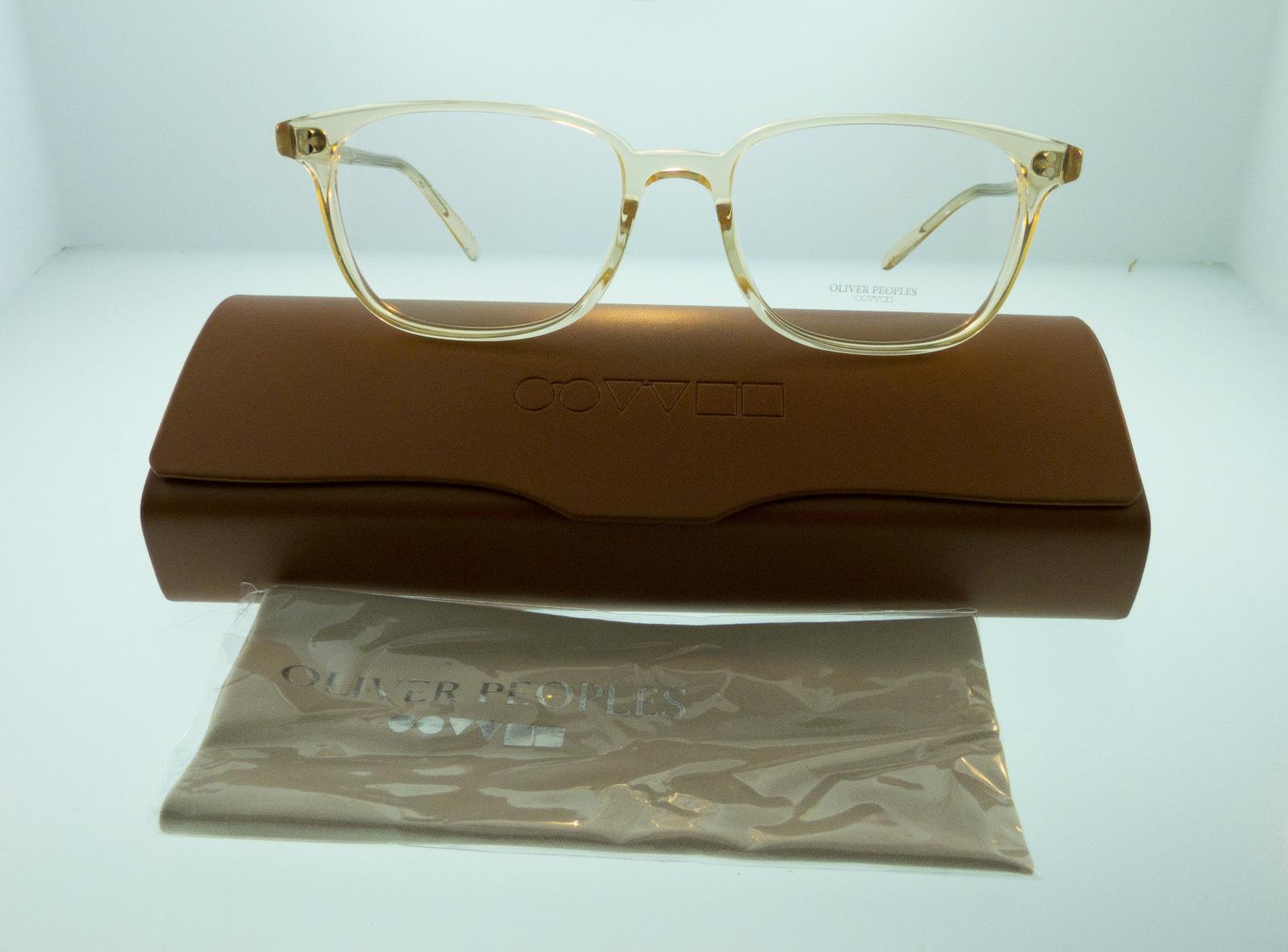 4c9e6c6dbfac Oliver Peoples Maslon RX Eyeglasses Translucent Buff 5279 1094 53mm ...