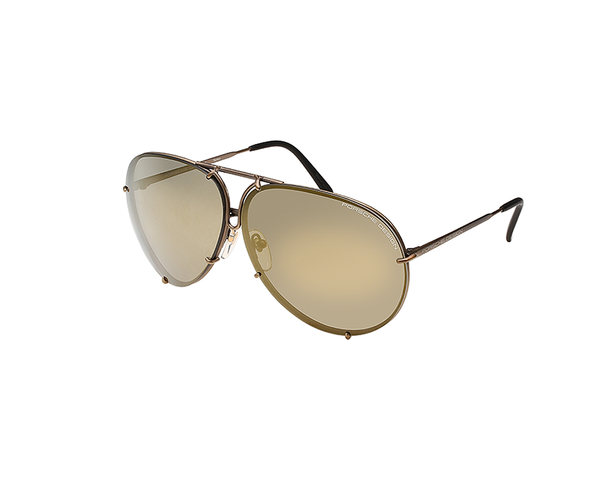 Details about Porsche Design P8478 E 66mm Sunglasses Copper Frame  Interchangeable Lenses 389545b4c96