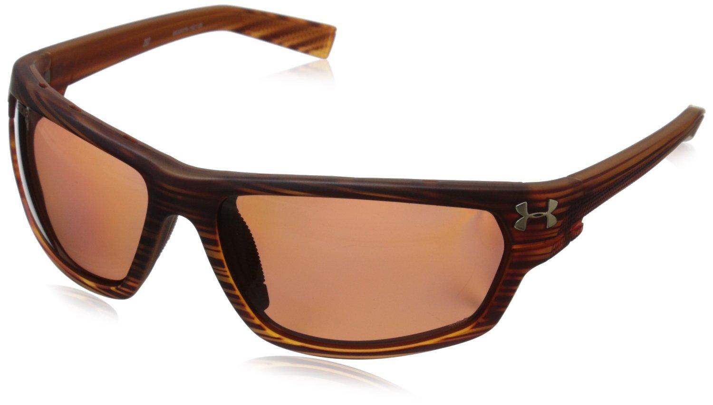 d5dd5e4b2a0 Under Armour Hook d Storm ANSI Satin Wood Polarized Sunglasses 8630078  192128