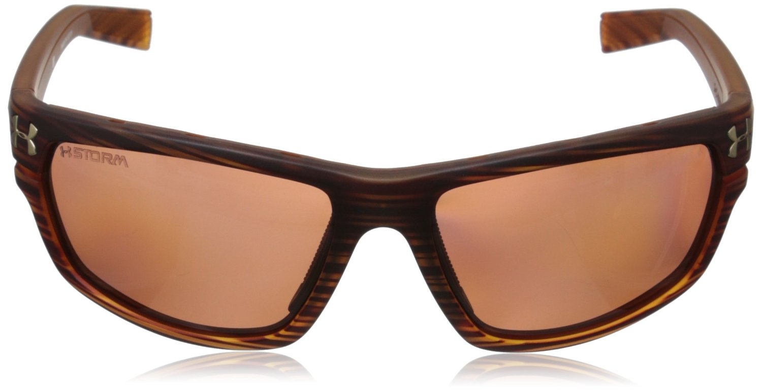 9db886f082 Under Armour Hook d Storm ANSI Satin Wood Polarized Sunglasses 8630078  192128