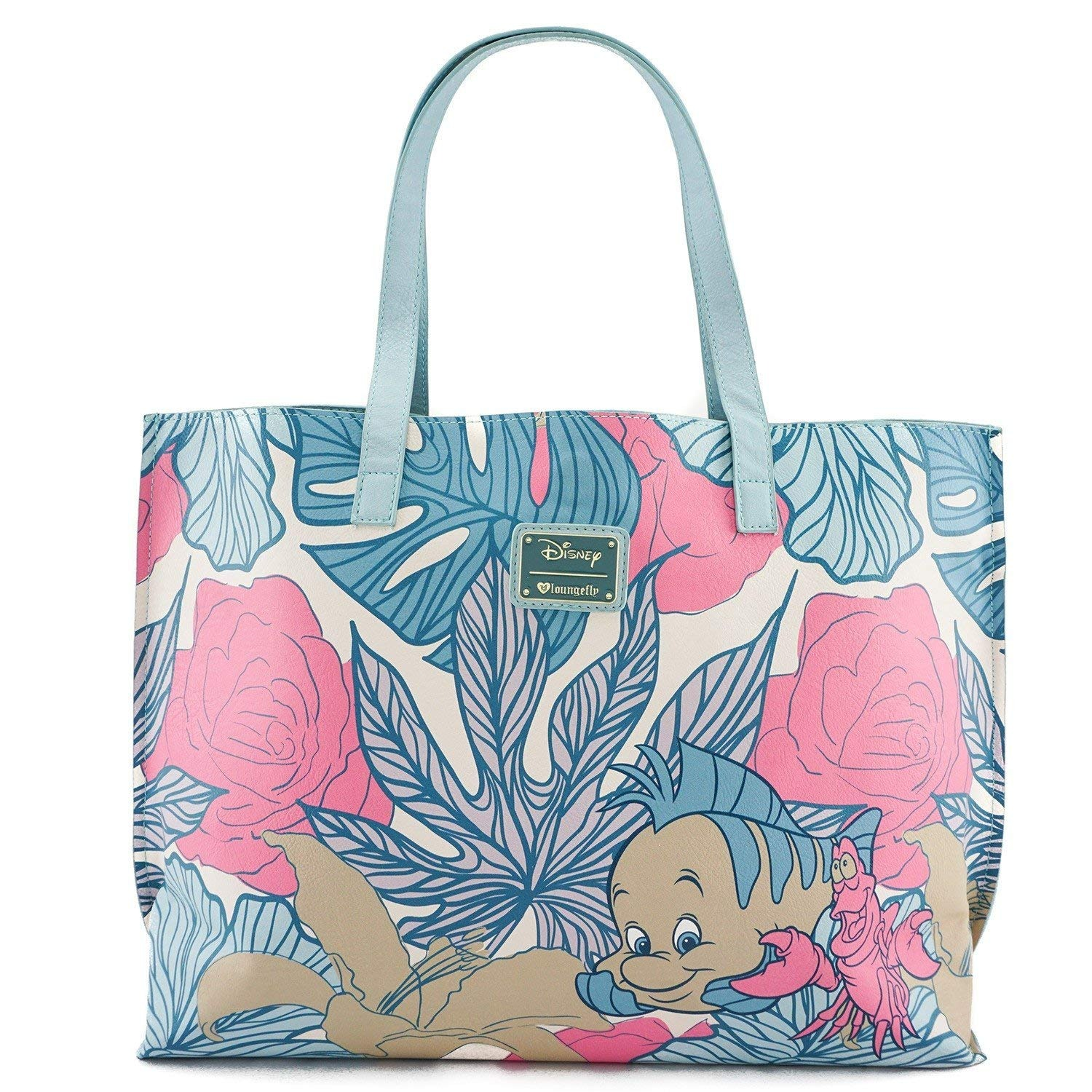 Loungefly x Disney The Little Mermaid Ariel Leaves Tote Purse ... 11774ad9c6547