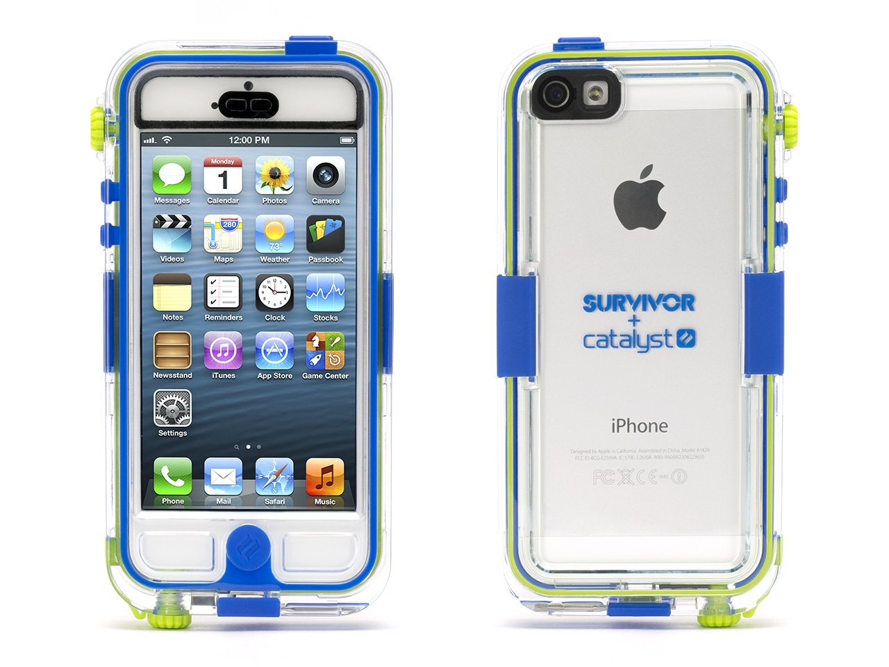 new arrival 05580 84e71 Details about Griffin GB36203 Survivor Waterproof and Catalyst for iPhone 5  Blue New