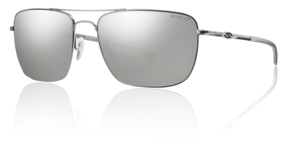 aa1ad440c2c Details about Smith Optics Nomad Sunglasses Matte Silver Frame Polarized  Platinum Lens