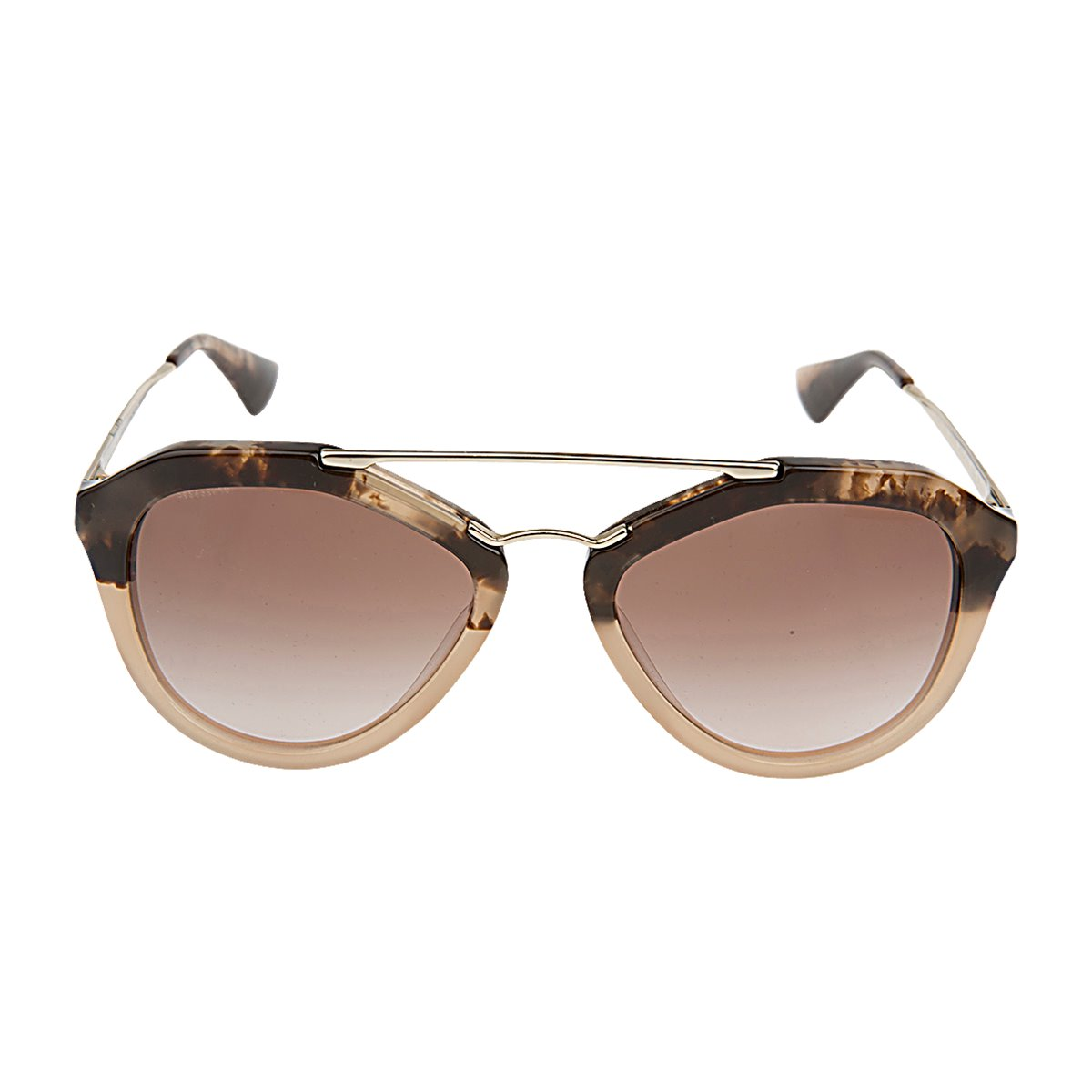 f427f6fdefcb Brand New Authentic Prada SPR12QS-ROZ0A6 Brown Aviator Sunglasses ...