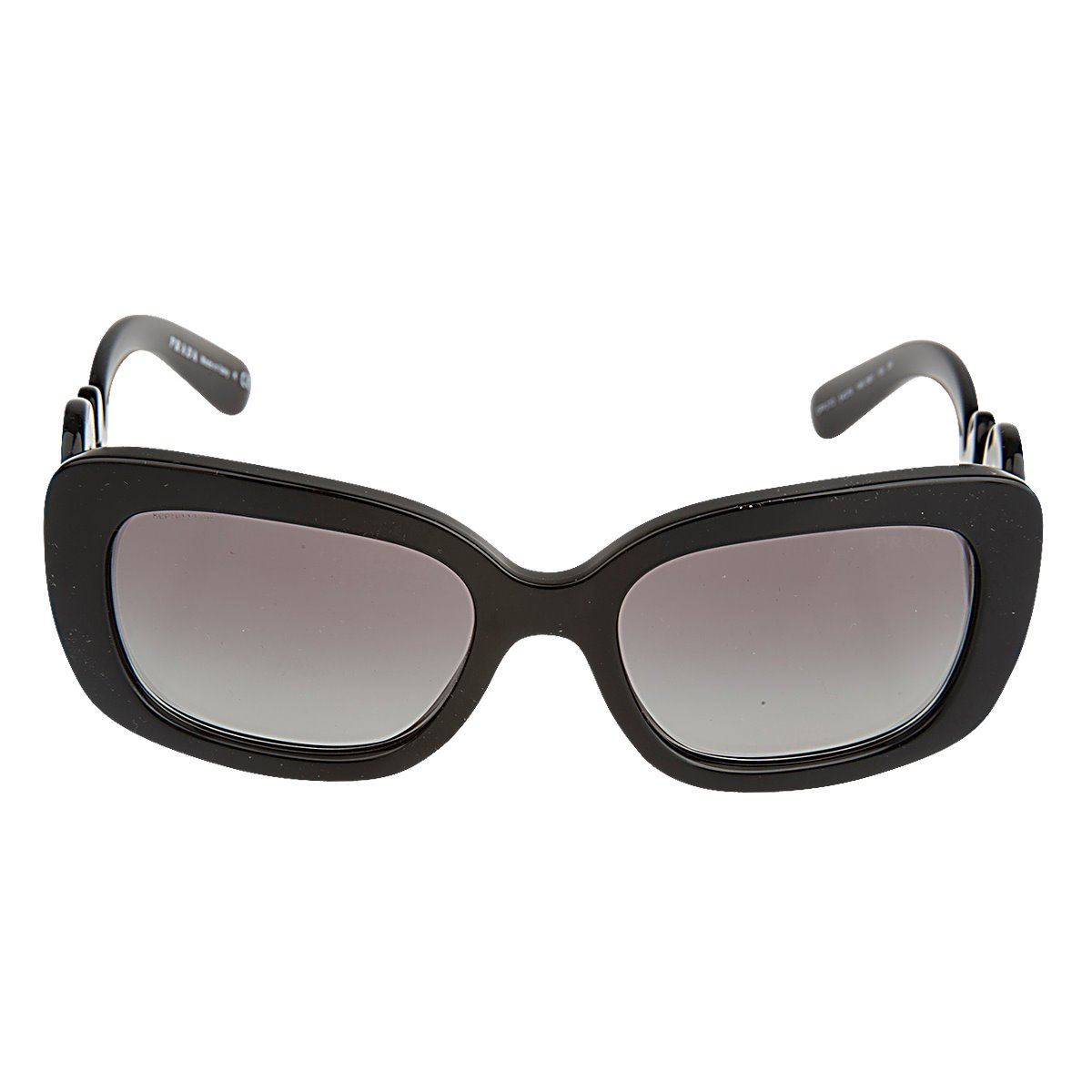 d507b1d8fa75e Brand New Authentic Prada SPR 27OS MINIMAL BAROQUE 1AB3M1 Black Sunglasses