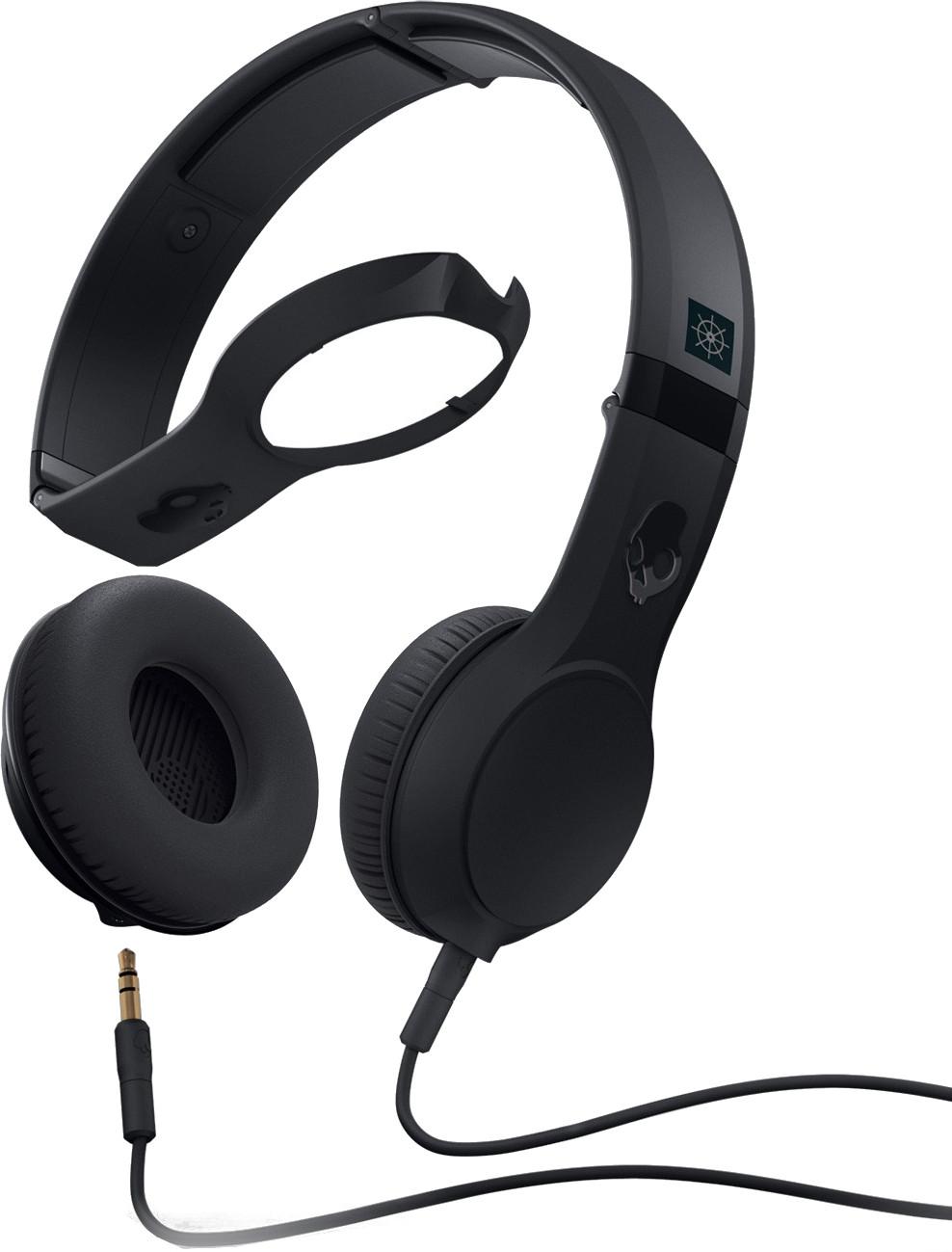 Skullcandy Cassette Headphones With Mic In Black 878615038349 Ebay Headphone Jack Wiring Diagram