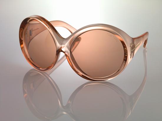 157726f31e Tom Ford TF 221 25P Ali White Full Rim Oversized Round Sunglasses ...
