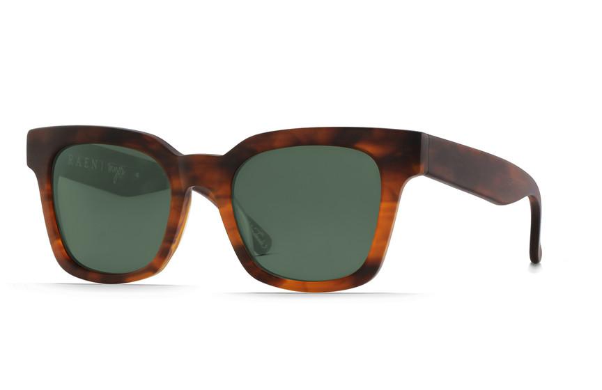 5bd4c349f5a1 Raen Optics Myer Matte Rootbeer Sunglasses Green Lenses