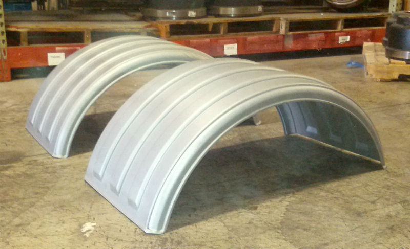 Minimizer Poly Fenders : Two minimizer g grey gray poly single axle fender for