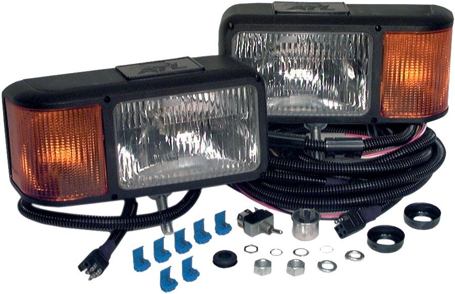 Snow Plow Light Lenses : Truck lite premium snow plow atv head light lamp kit