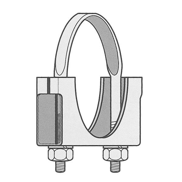 Quot welded saddle clamp flat u bolt zinc plated
