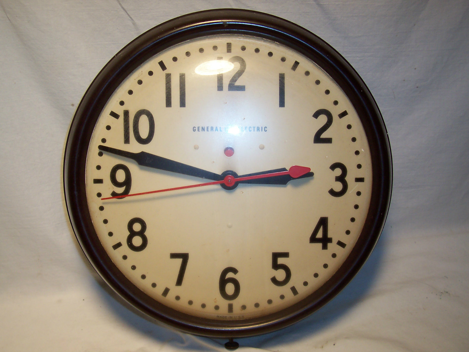 General Electric School House Wall Clock Vintage Mid Century