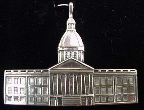 Florida Capitol Building 1990 Sterling Christmas O