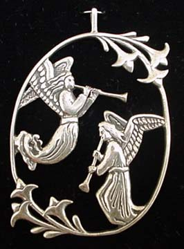 Marmion Angel Sterling Christmas Ornament 1993 JVS