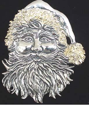 JVS Sterling 1884G  Late Victorian Santa with Gold