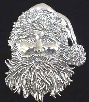 JVS 1884 Sterling Ornament  Late Victorian Santa 1