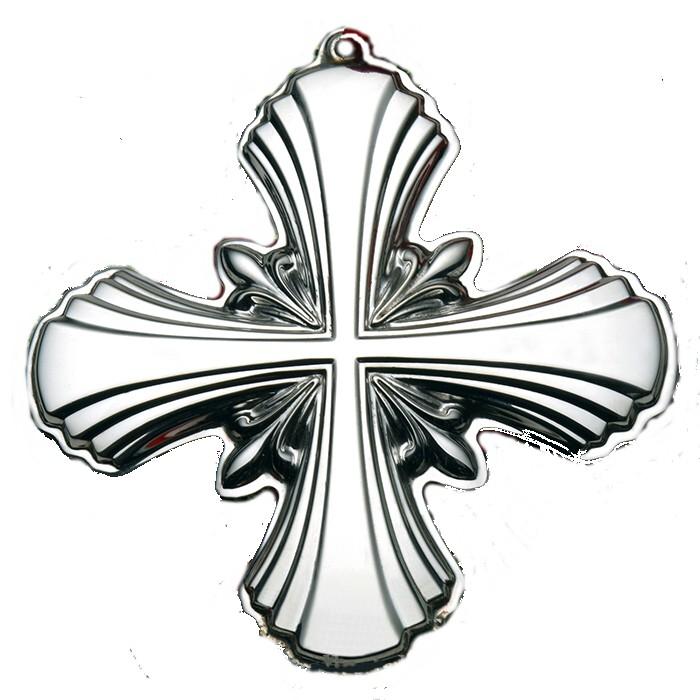2014 Gorham Sterling Cross Christmas Ornament 1st