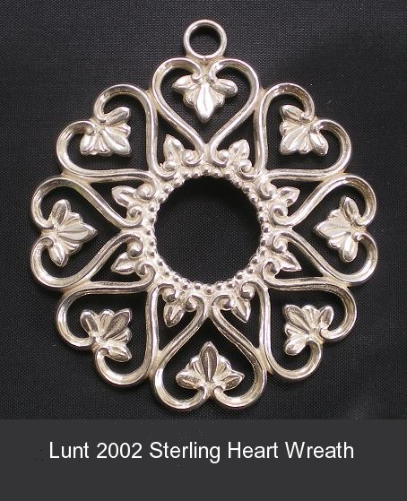 Heart Wreath Sterling Silver Christmas Ornament 20