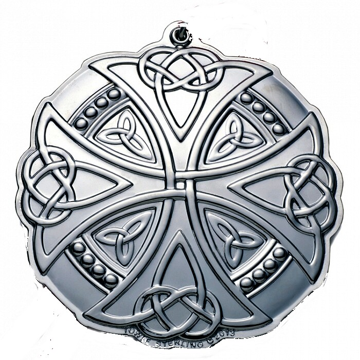Celtic Knot Sterling Silver Christmas Ornament 201