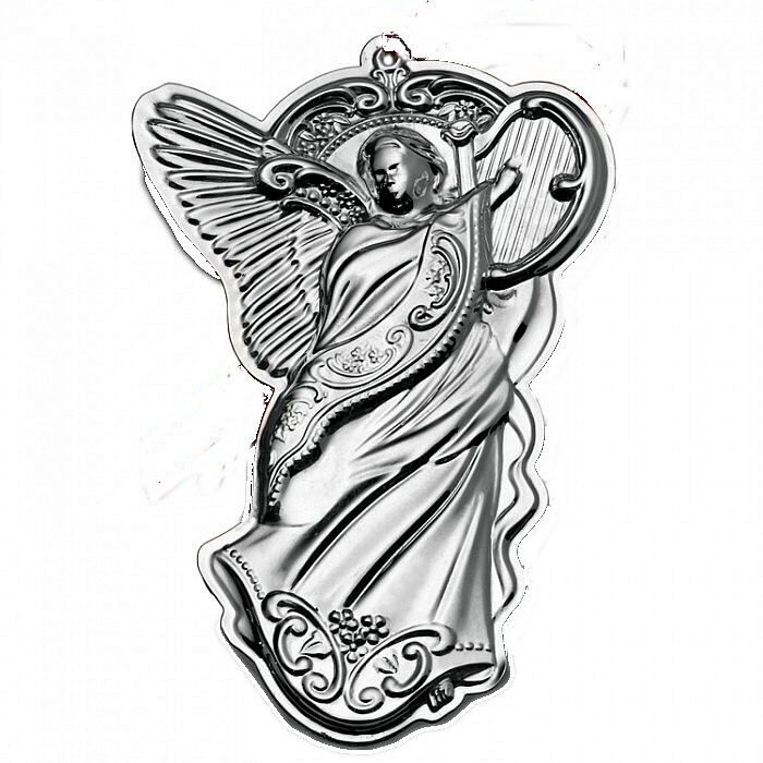 Angel Sterling Christmas Ornament 2013 Wallace Gra