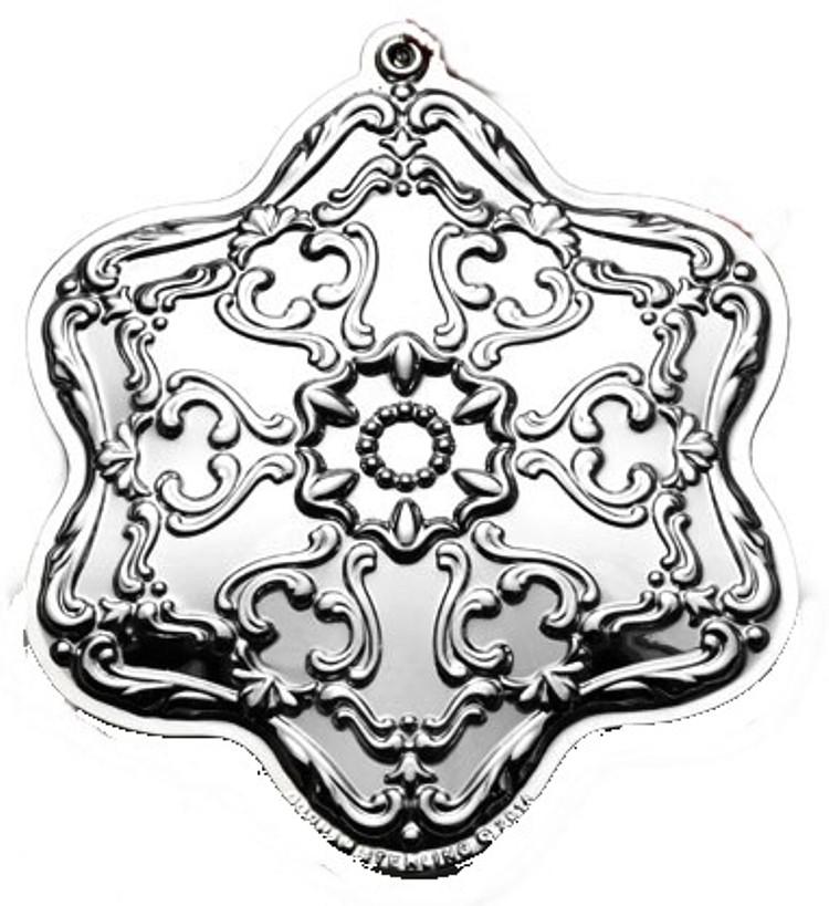 2014 Gorham Chantilly Snowflake Sterling Christmas