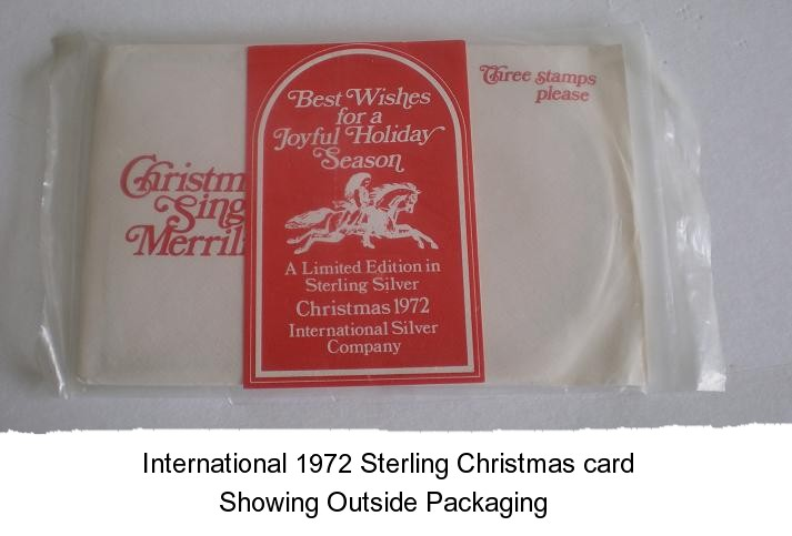 Sterling Christmas Card  Norman Rockwell Scene 197