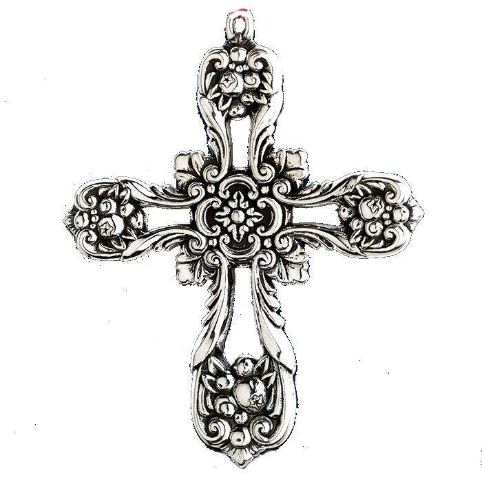 2014 Reed & Barton Francis 1st Pierced Cross Sterl