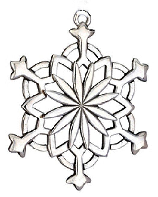 Snowflake 2012 Sterling Christmas Ornament Lunt 24
