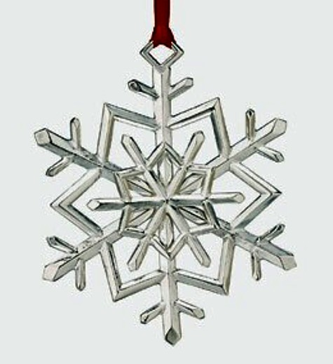 Snowflake 2010 Lunt Sterling Silver Christmas Orna