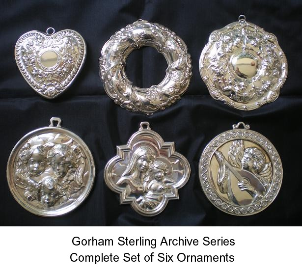 Gorham Sterling Ornament Archive Series Complete S