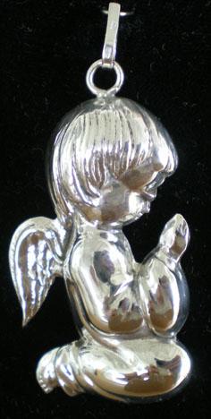 Windsor Park 6989 Sterling Ornament Praying Angel