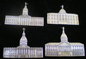 Georgia Capitol Building Sterling Ornament 1990 JV