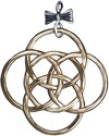 12 Days of Christmas Sterling Ornaments Pendants C