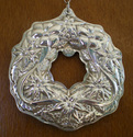 Wallace Wreath Series Sterling Christmas Ornaments