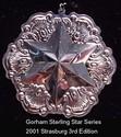 Gorham Stars Sterling Silver Christmas Ornaments C
