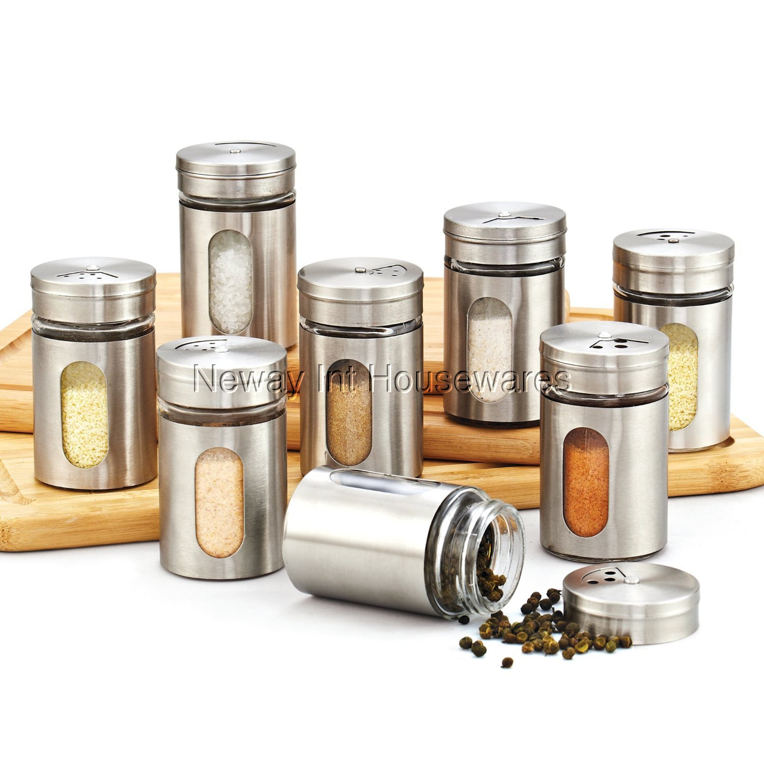 Cook N Home Store Cook N Home 02504 8 Piece Spice Bottle