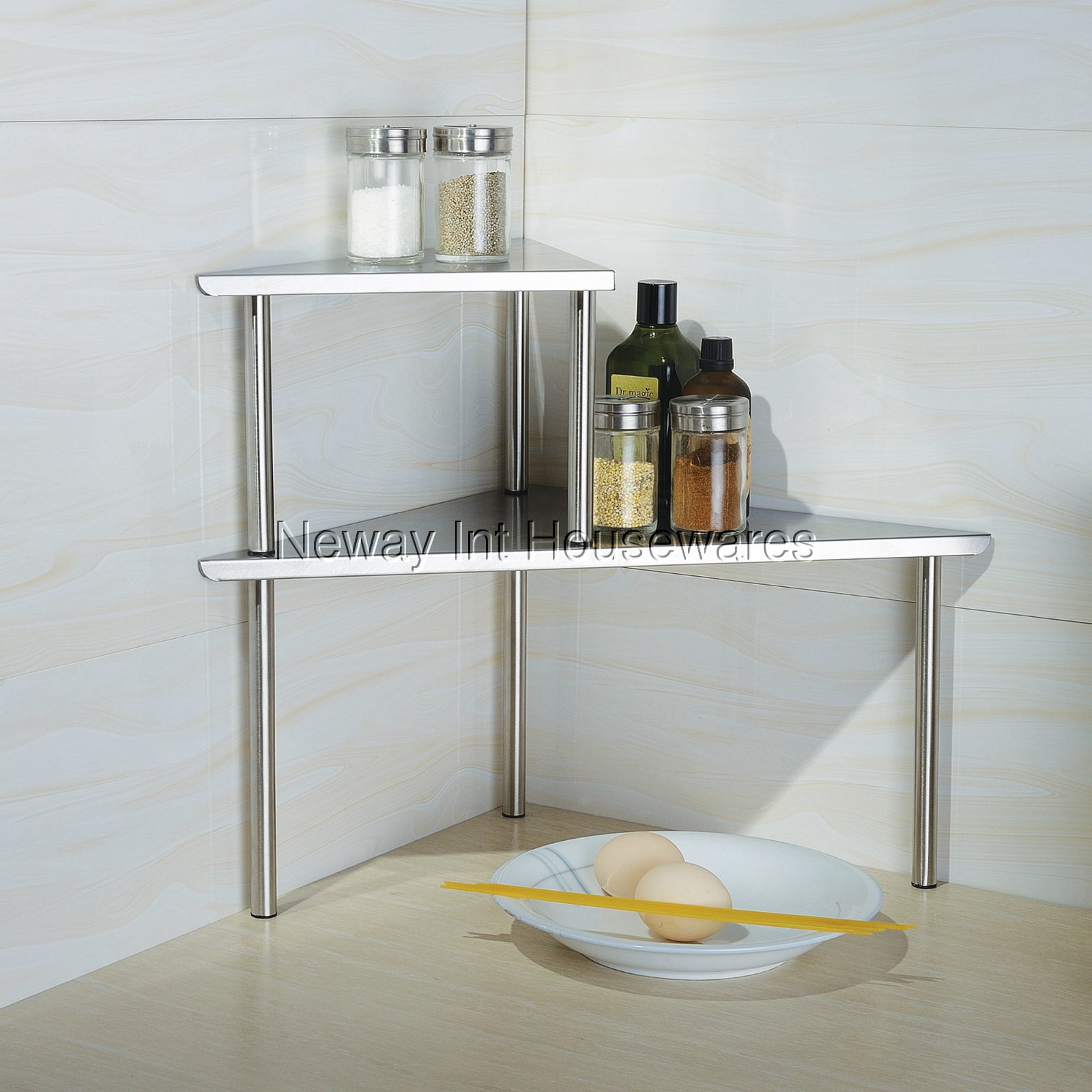Larger View. Cook N Home Stainless Steel Corner Storage Shelf Triangle & Cook N Home Store : Cook N Home Stainless Steel Corner Storage Shelf ...