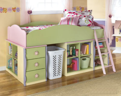 Ebay Bedroom Furniture on Http   Stores Ebay Com Furnituremail   Doll House Pink Green Wood