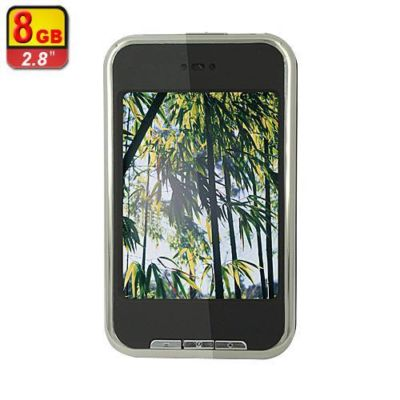 "New 8GB 2.8"" Touch screen MP3/MP4 Player with FM R"