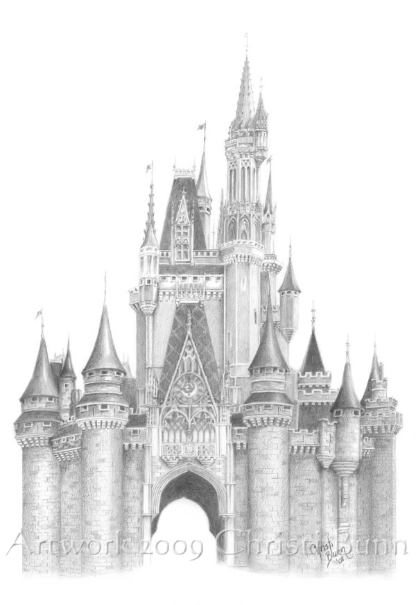 Gallery For gt Cinderella Castle Simple Drawing