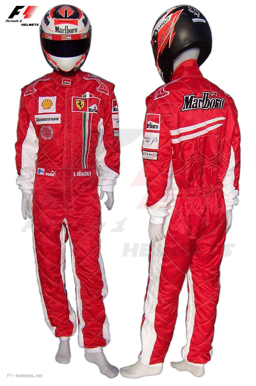 f1-helmets.net : Kimi Raikkonen 2008 RACING SUIT - Formula 1