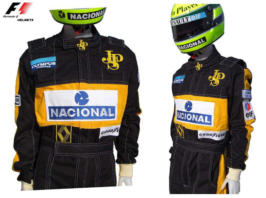 F1-helmets.net : Ayrton Senna 1985 RACING SUIT - FORMULA 1