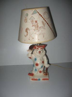Chasec408 Vintage Lane And Co Clown Lamp Original Condition